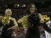 The CU Express Dance team cheers as the Buffs' temporarily take the lead over Illinoise in the second half. (Amy Leder/CU Independent)
