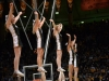 Cheerleaders pump up the crowd during a time-out. (Nate Bruzdzinski/CU Independent)