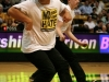 A hip-hop dance team performs at half-time. (Amy Leder/CU Independent)