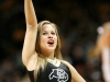 A CU cheerleader performs. (Amy Leder/CU Independent)