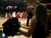 "A cheerleader signs a ""c"" with her arms as Andre Roberson takes a free throw. (Amy Leder/CU Independent)"