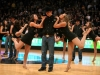 Ralphie Handlers perform with the CU dance team durring the halftime show. (Kai Casey/CU Independent)