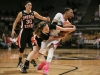 Gaurd Chucky Jeffery fights with the Beaver's sophomore guard Ali Gibson. (Kai Casey/CU Independent