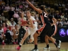 Sophomore guard Lexy Kresl runs around the Oregon State player. (Kai Casey/CU Independent)