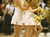 CU cheerleaders perform at halftime during a game against Hartford at the Coors Events Center on Dec. 29, 2012. (Kai Casey/CU Independent)