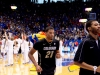 Andre Roberson leaving the court after Buffs road loss to Kansas. Roberson had 8 points and 11 rebounds. (Andrew Kaczmarek/CU Independent)