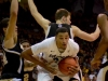 Andre Roberson drives the lane late in the second half of the Buffs basketball opener Friday night in Boulder. The Buff defeated Wofford College 74-59. (Andrew Kaczmarek/CU Independent)
