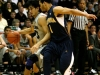 Senior guard Sabatino Chen dribbles past a defender in Sunday afternoon's game against California.  Chen came off the bench to play 23 minutes helping the Buffs roll past Cal. (Nate Bruzdzinski/CU Independent)