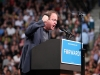 Congressman Jared Polis provides a few remarks before Obama's speech. (James Bradbury/CU Independent)