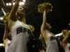 Members of the CU Spirit Squad pump up the crowd prior to the start of the game. (Amy Leder/CU Independent)