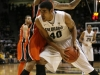Freshman Josh Scott works against an Oregon State defender. (Amy Leder/CU Independent)