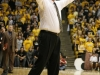 CU head coach Tad Boyle calls out to his team. (Amy Leder/CU Indepedent)