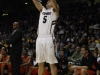 Freshman guard Eli Stalzer attempts a 3-pointer. (Robert R. Denton/CU Independent)