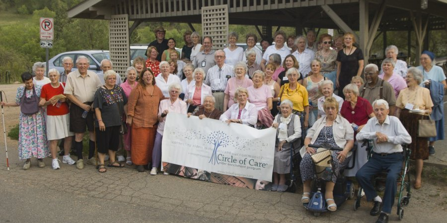 Seniors enjoying the chautauqua music festival