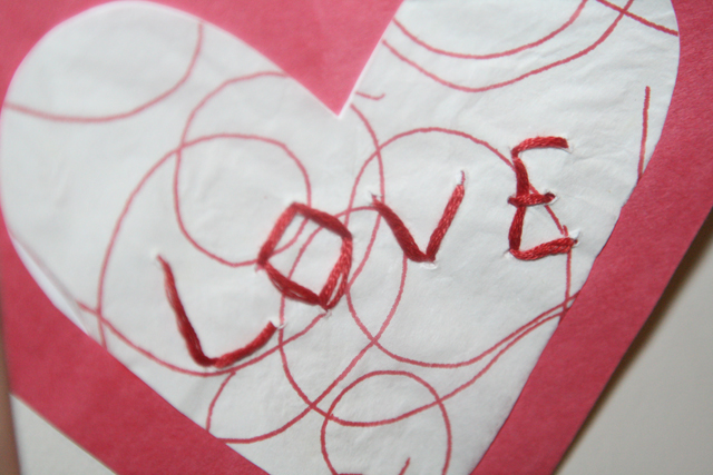 A cardboard paper-designed heart in the Valentine's Day theme. (CU Independent File)