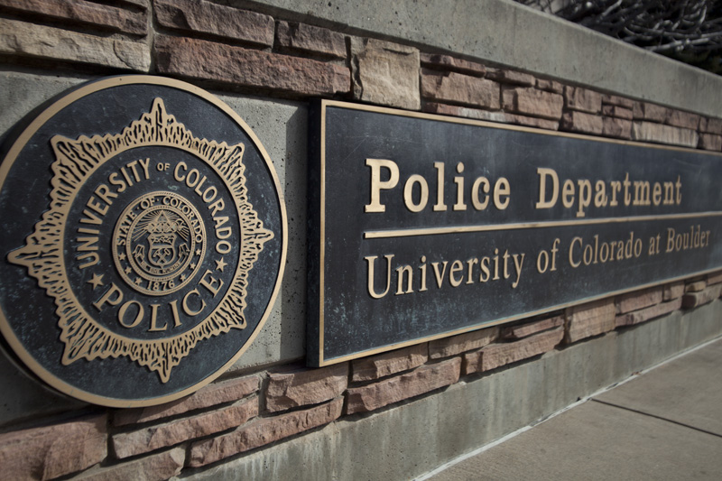 The sign outside CUPD headquarters. (Robert R. Denton/CU Independent File)