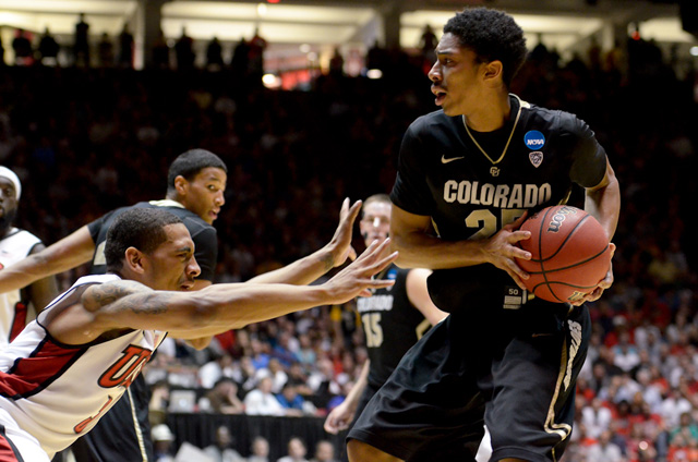 UNLV's Justin Hawkins attacked CU freshman guard, Spencer Dinwiddie, in the buff's first game in NCAA March Madness. CUI's Marley writes on how CU should be known as a basketball school and not a football school. (CU Independent/Andrew Kaczmarek)