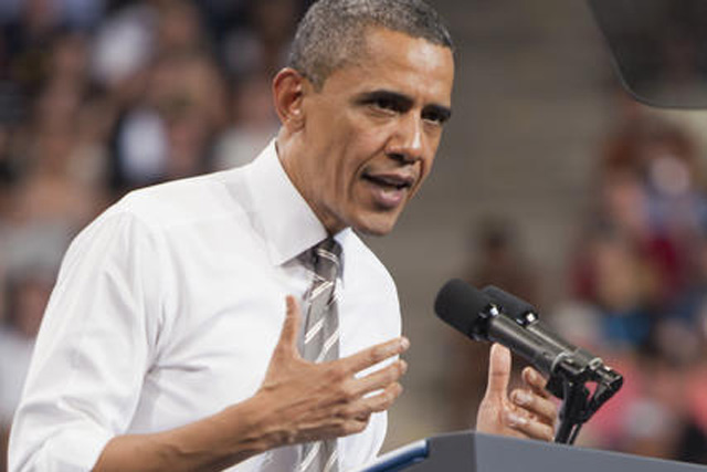 President Barack Obama discusses Stafford student loans at the Coors Event Center during a visit to CU last spring. (CU Independent File/Robert R. Denton)