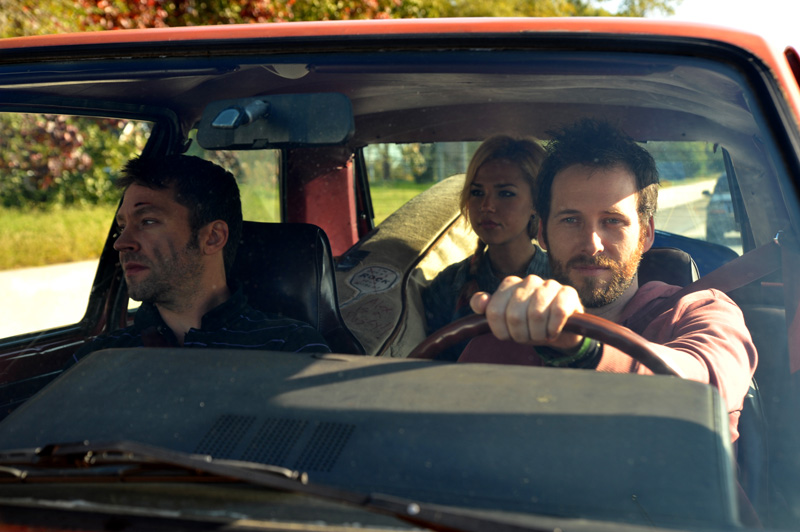 Michael Weston, Arielle Kebbel, and Ryan O'Nan in 'Brooklyn Brothers Beat the Best.' (Photo by Jory Clay Sutton/Courtesy of Oscilloscope Laboratories)