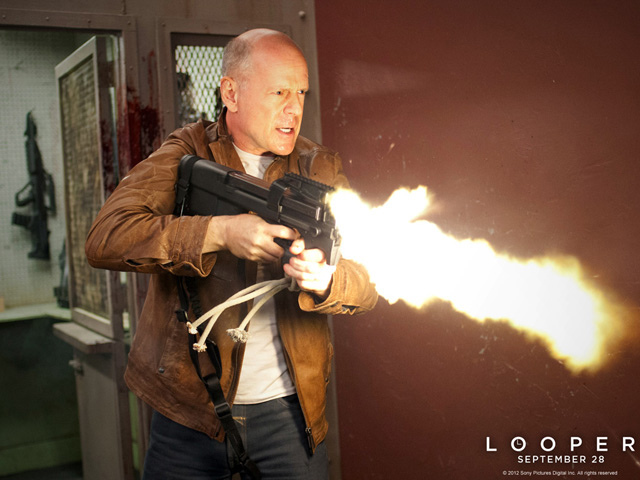 Bruce Willis in 'Looper' premiering Friday. (Courtesy Sony Pictures Digital Inc.)