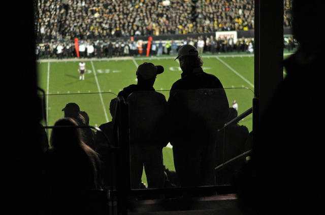 Spectators wait for the second half to begin Oct. 11 in Boulder. The Buffs lost to ASU 51-17. (CU Independent File/James Bradbury)