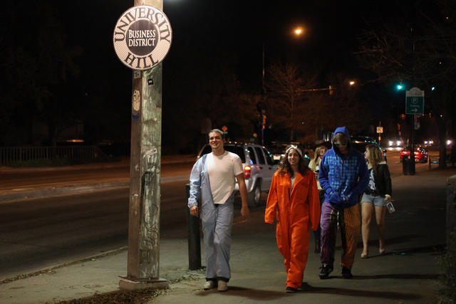 Be sure to stay classy this Halloween. Above, people walk The Hill on Halloween last year. (Robert R. Denton/CU Independent File)