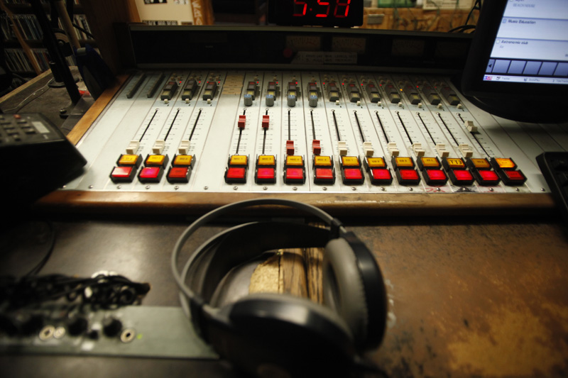 Radio 1190 board. (Robert R. Denton/CU Independent File)