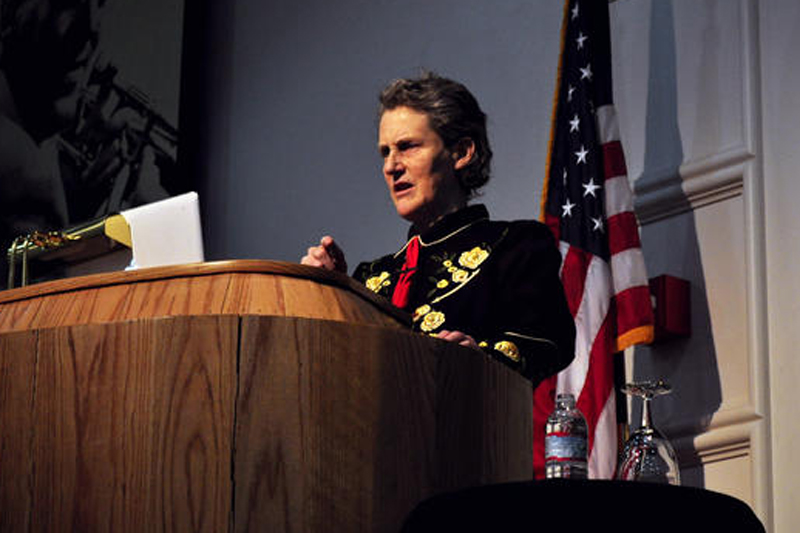Photos: Temple Grandin visits CU