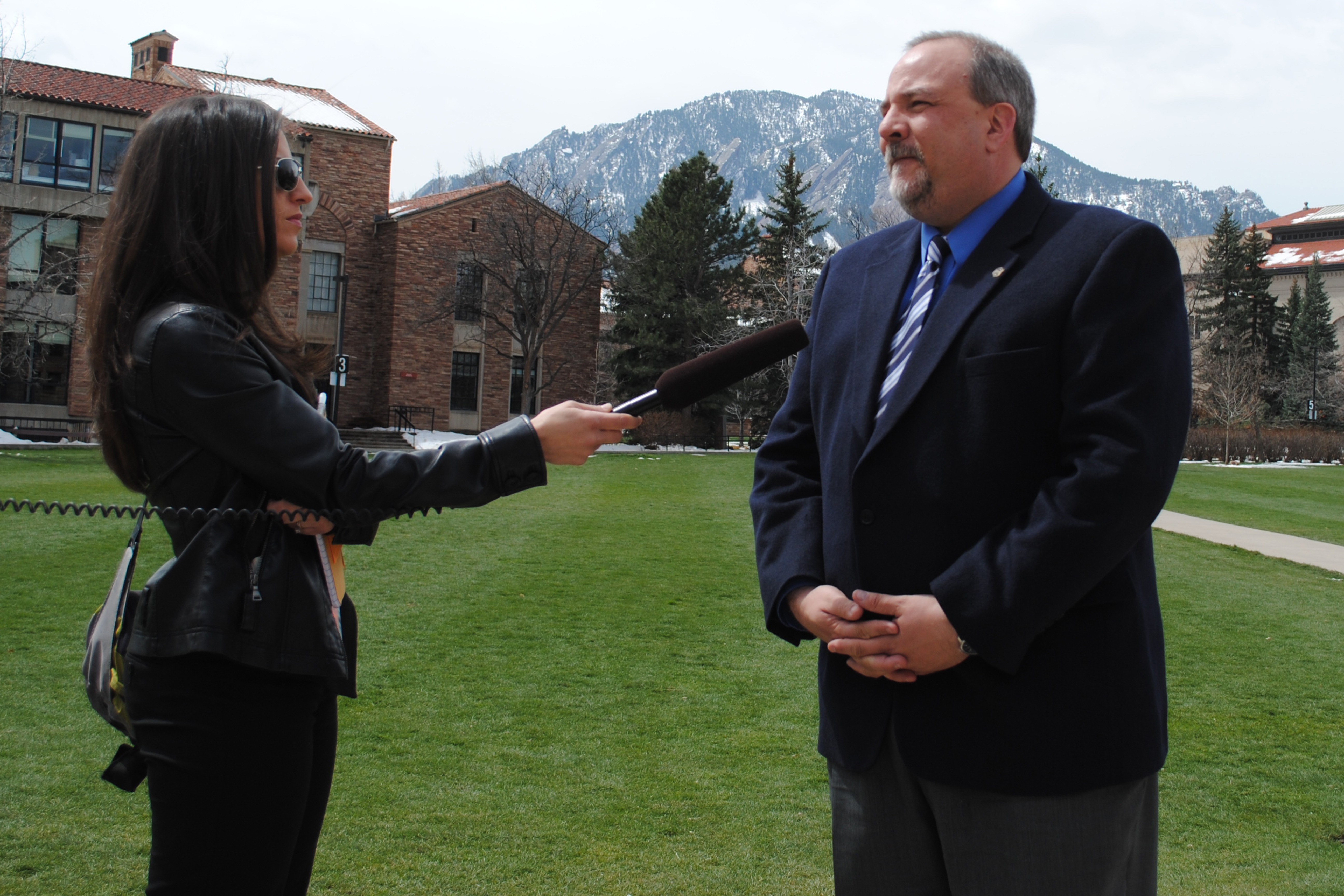 CU Spokesperson Bronson Hilliard discusses campus closure and 420 procedures at Press Conference on Saturday.