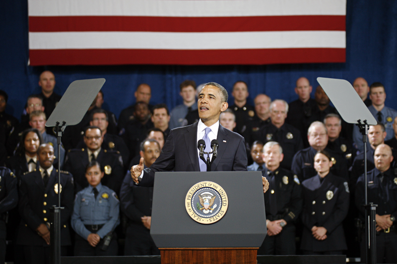 Obama presses for gun measures, says Congress could vote on background checks soon