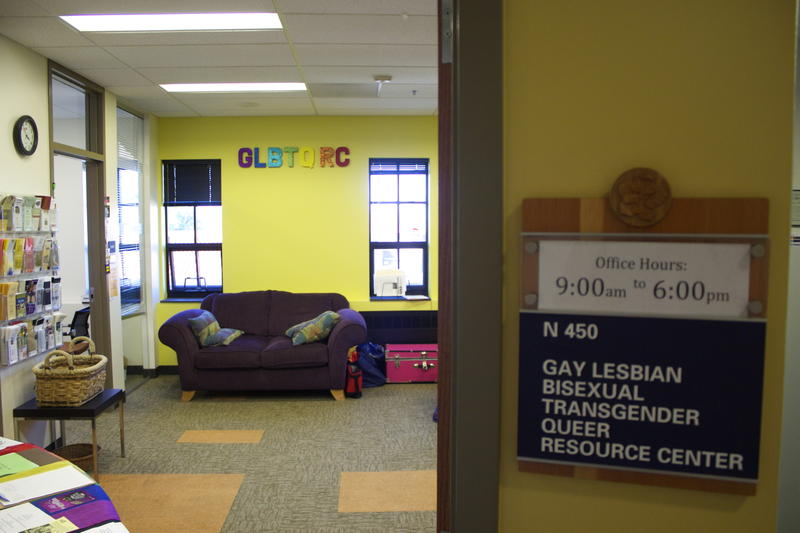 The GLBTQ Resource Center, now known as the Gender and Sexuality Center, located in the Center for Community. (Matt Sisneros/CU Independent)