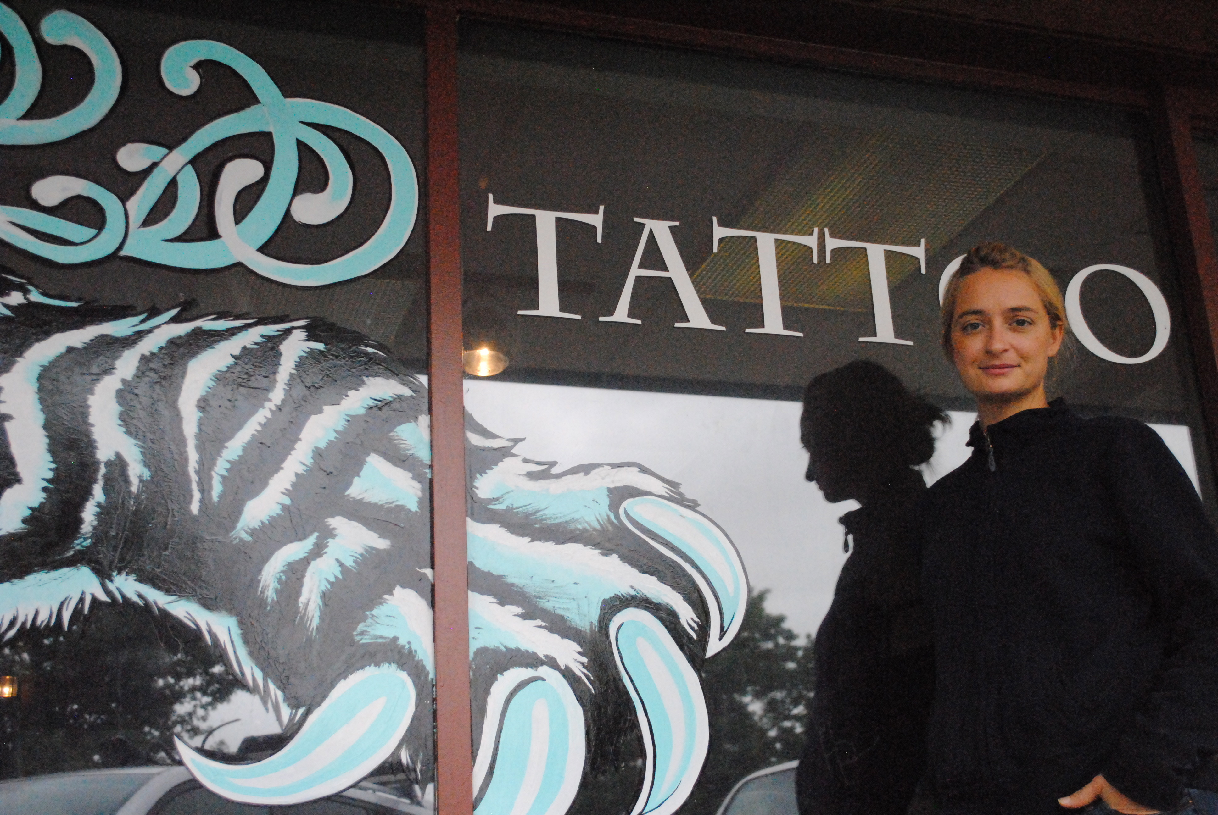 Artist Chelsea Pohl outside of her tattoo studio, Claw and Talon. (Courtesy Lauren Maslen)