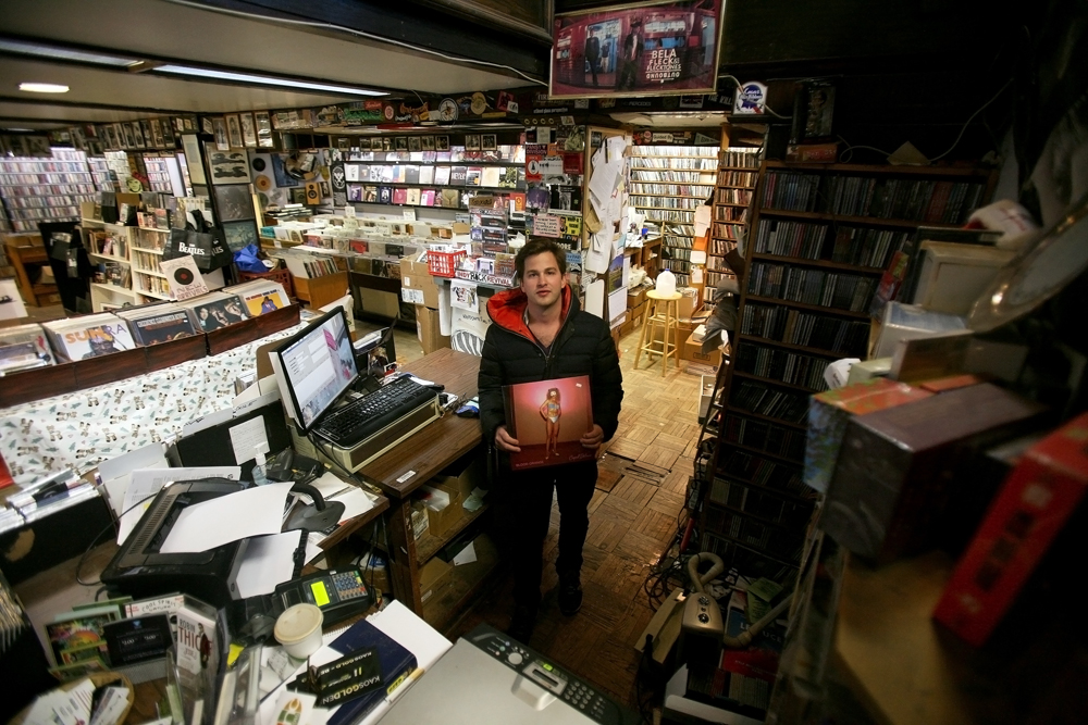 """What I love about record stores is that they're a great place to talk about music. More so than buying it, it's a nice kind of cultural thing to find about about new artists, or chat about old artists, and learning about music. It's different than talking or looking online. I really love the human interactions of the store."""