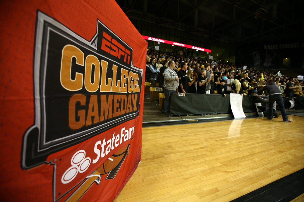 Colorado faithful fill a good part of the east side of the stadium during the ESPN College GameDay broadcast at the Coors Events Center, Saturday in Boulder, Colo. (Kai Casey/CU Independent)