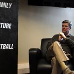 Colorado head coach Mike MacIntyre sits in his office in the Dal Ward Athletic Center during an interview on Monday. (Matt Sisneros/CU Independent)