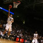 Colorado's Askia Booker lays the ball in. (Allie Greenwood/CU Independent)