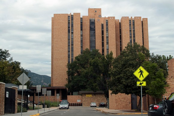 Stearns West Hall in Williams Village. A student was found dead in his dorm room on Tuesday. (Calyx Ward/CU Independent)