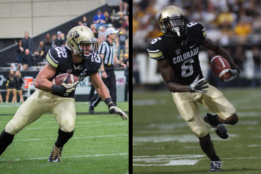 Nelson Spruce (L) and Paul Richardson (R) have both made resounding impacts in the recent CU Buffs football program. (Matt Sisneros & Jake Fojtik/CU Independent)