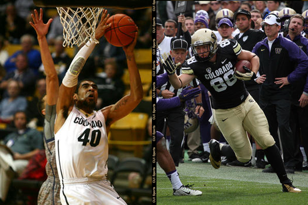 The University of Colorado football and basketball teams. (Kelsey Brunner/ CU Independent File)