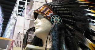 A headdress seen at the local Boulder Halloween store. (Trinity Clark/CU Independent)