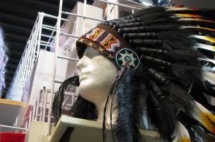A headdress seen at the local Boulder Halloween store. (Trinity Clark/CU Independent)
