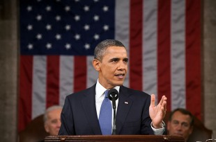 President Barack Obama addresses a joint session of Congress in his State of the Union address in 2011. (Courtesy of Pete Souza/Wikimedia Commons)