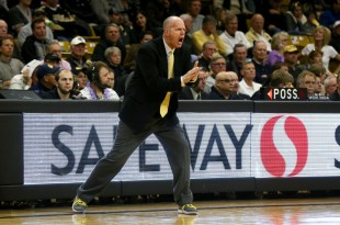 Colorado head coach Tad Boyle reacts to a Buff turnover during the second half of play at the Coors Event Center. Jan. 31, 2016 (Nigel Amstock/CU Independent)