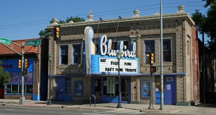 The marquee of the Bluebird Theater in Denver, Colorado. (Jeffrey Beall/Wikimedia Commons)