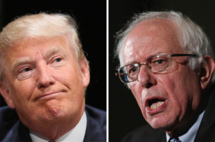 Donald Trump and Bernie Sanders (Getty Images)