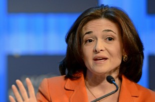Sheryl Sandberg gives a statement during the session 'Women in Economic Decision-making' at the Annual Meeting 2013 of the World Economic Forum in Davos, Switzerland, January 25, 2013. (World Economic Forum via Wikimedia Commons)