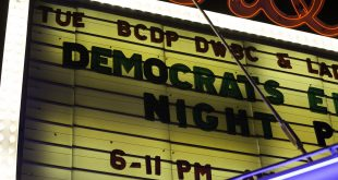 The Boulder Theater gets prepared for the Democrats' Election Night Party. November 8th, 2016. (Will McKay/CU Independent)