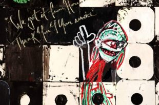 """A Tribe Called Quest's sixth album """"We Got It From Here... Thank You 4 Your Service"""". Album art via AbLab."""