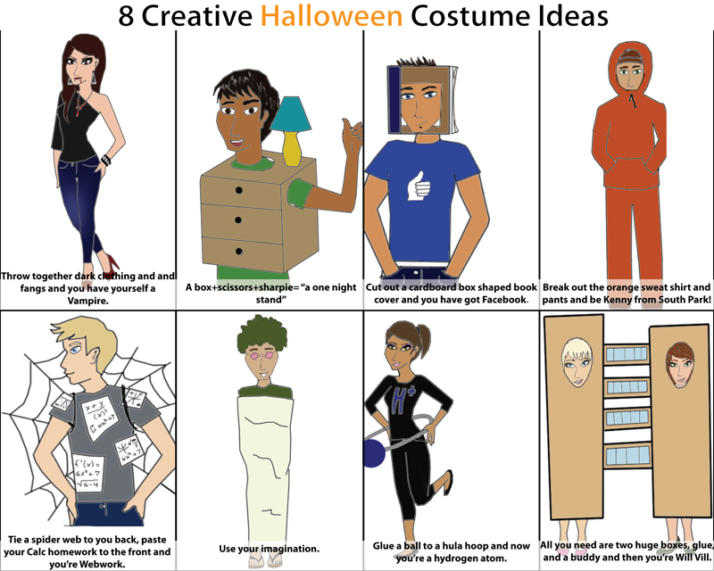 cartoon eight creative halloween costumes - List Of Halloween Costumes Ideas