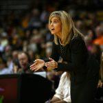 Arizona State head coach Charli Turner Thorne encourages her team. (Kai Casey/CU Independent)
